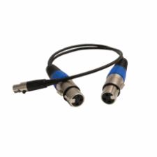 2 x 3-pin Male XLR to 5-pin Female Mini-XLR Cable